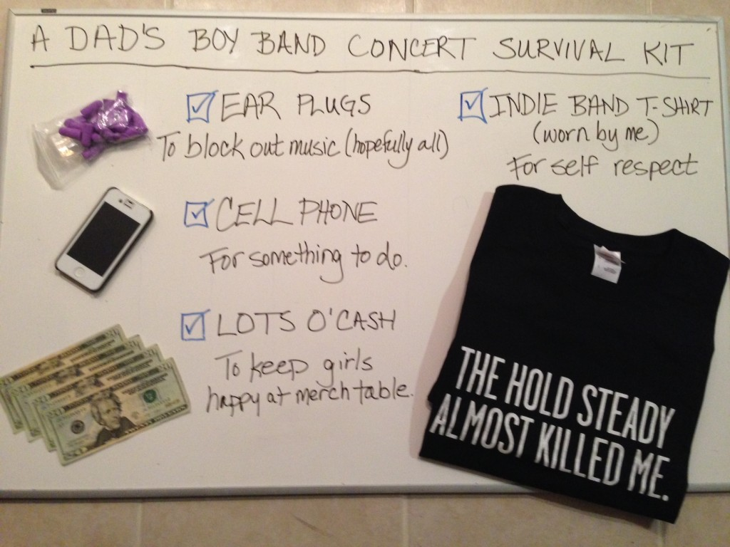 A DAD's BOY BAND SURVIVAL KIT