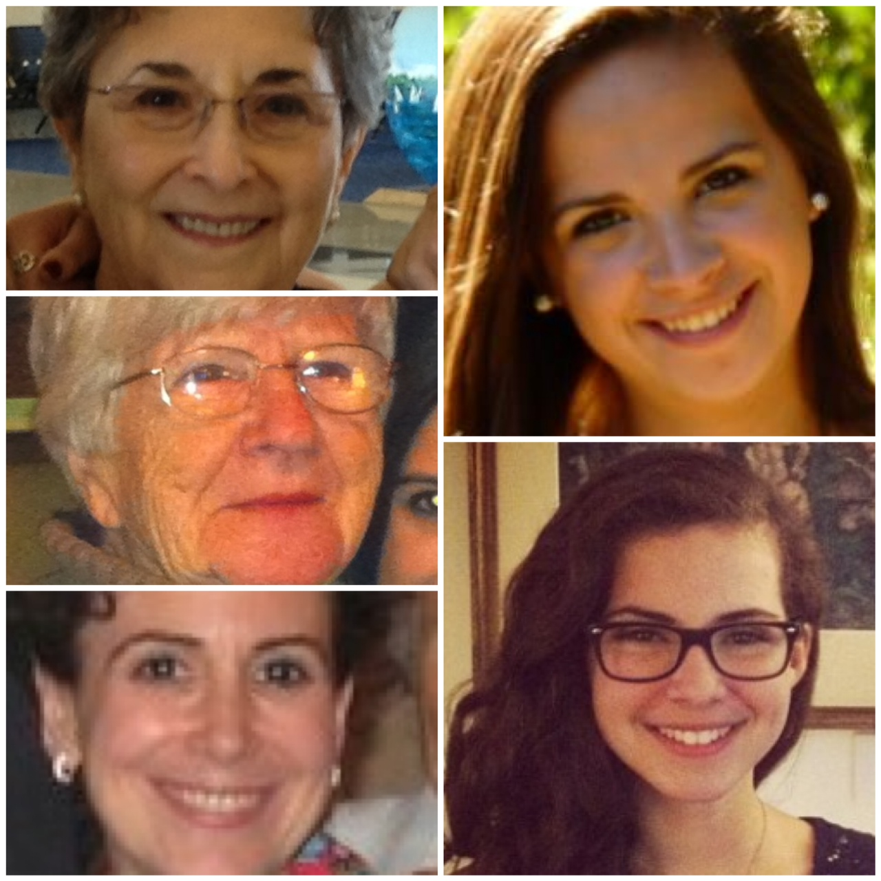 Pictures of blogger's mother, wife, mother-in-law and two daughters.