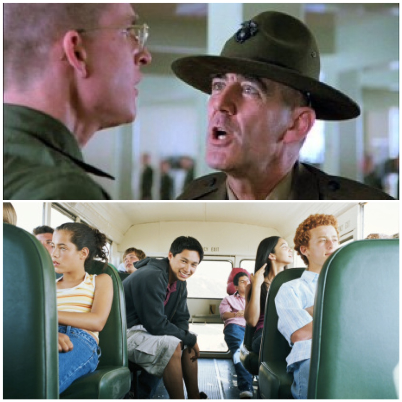 Kids on school bus are scarier than a drill sergeant