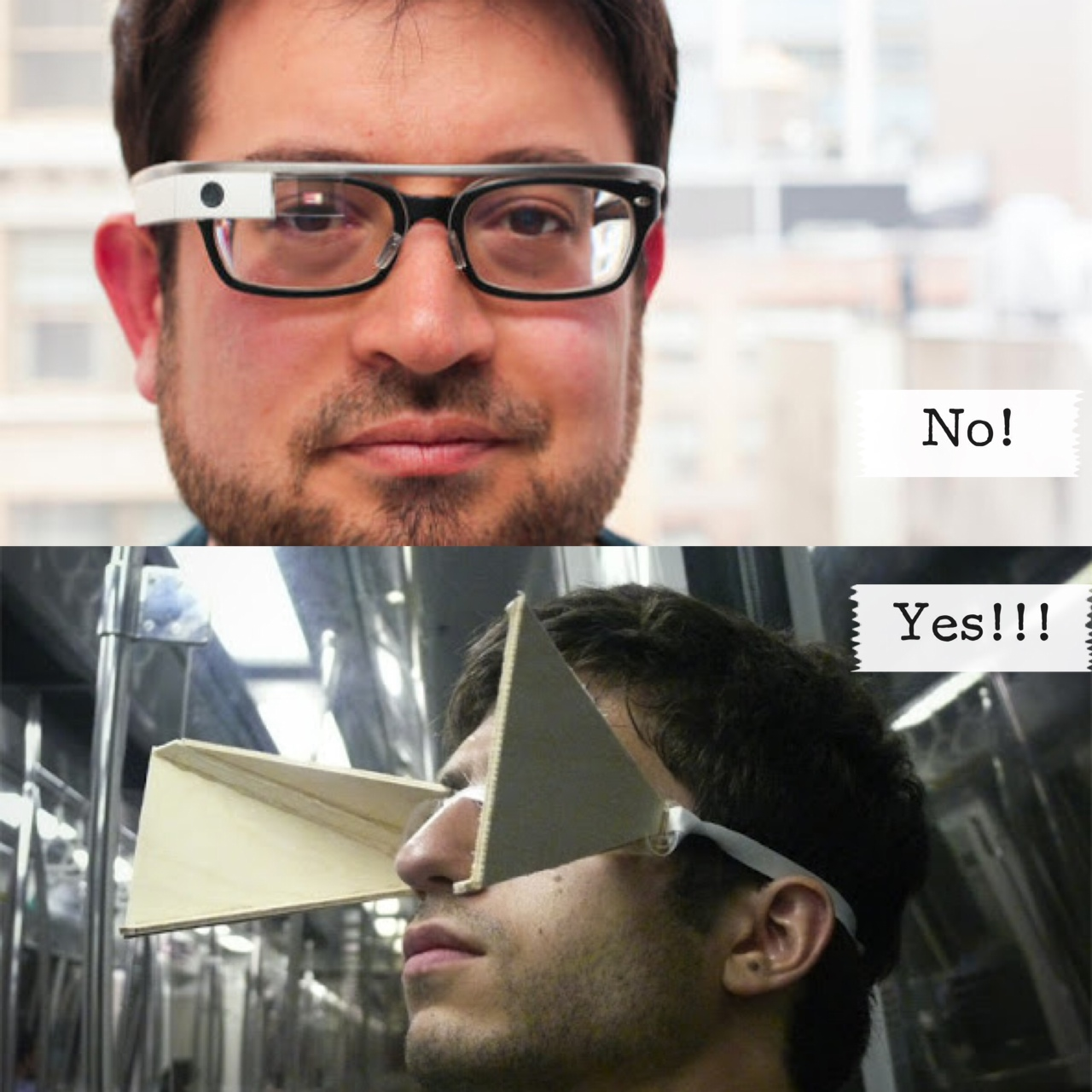 Blinders seem better than Google glasses.