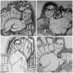 This tom turkey is so grateful to have these three hens in his life!